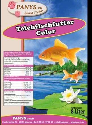 Teichfischfutter Color