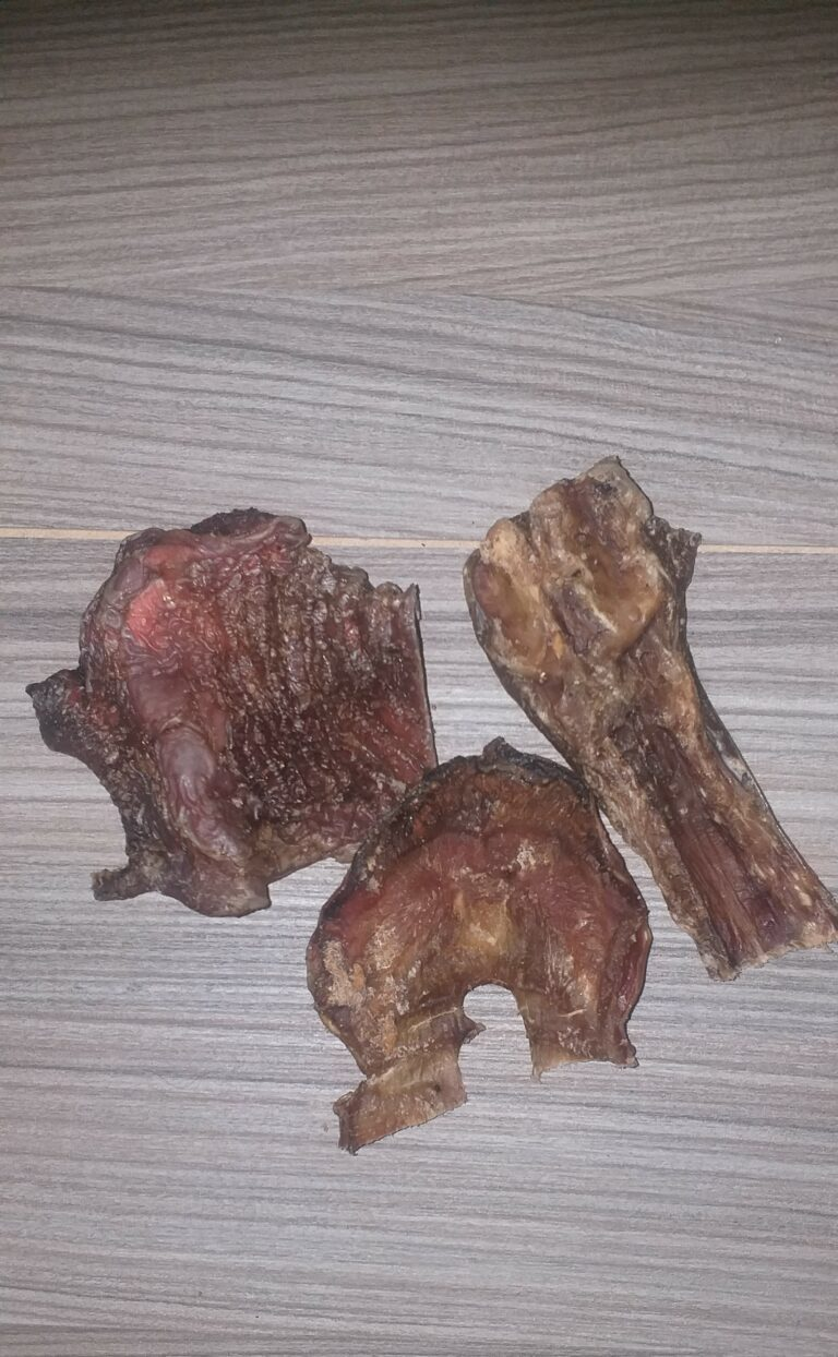 Rindergaumen geschnitten